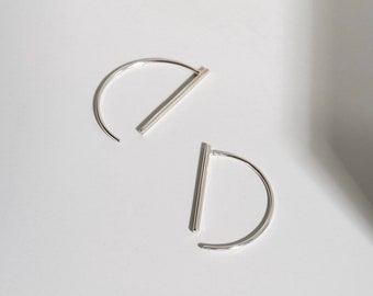 Sterling silver minimal line threads