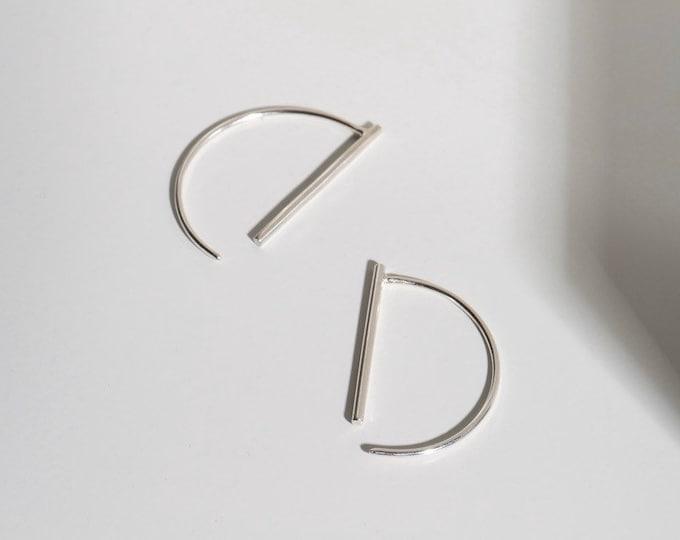 Sterling silver minimal line threads