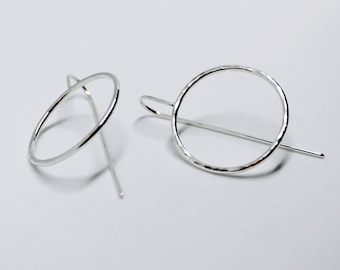 Large circle ear hooks