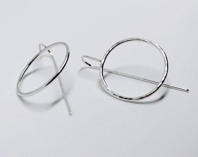 Large circle ear hooks