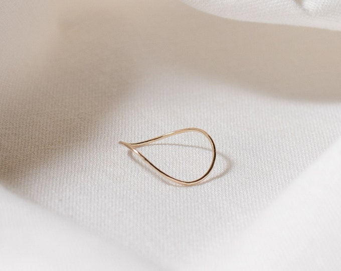 Recycled 9ct gold wave ring