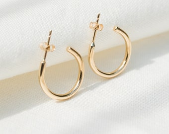 Chunky 9ct gold hoops