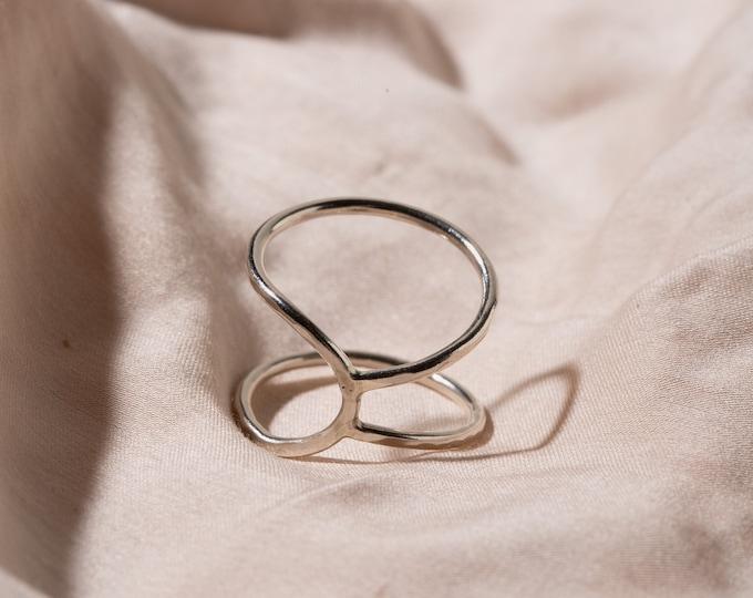 Asymmetric open ring