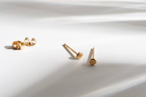 9ct recycled gold mini studs