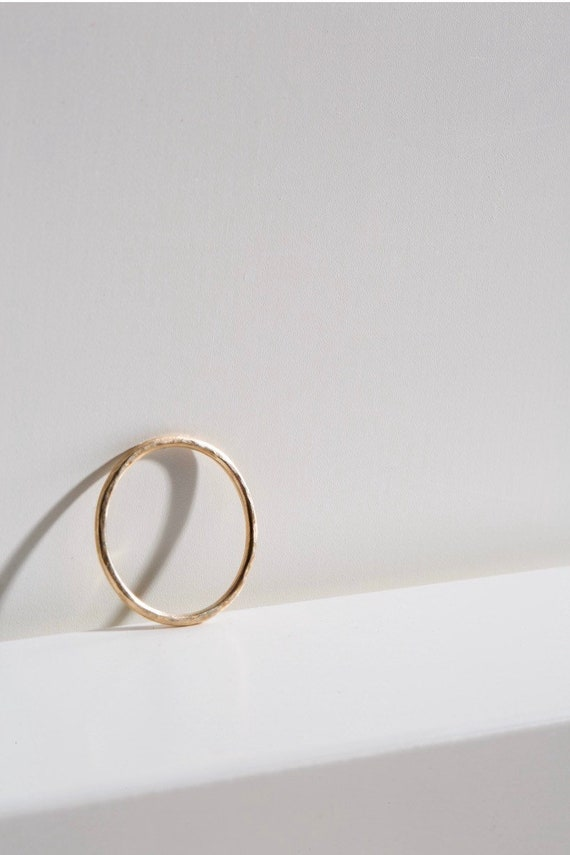 9ct recycled gold stacking ring