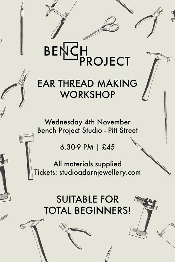 Ear thread making workshop