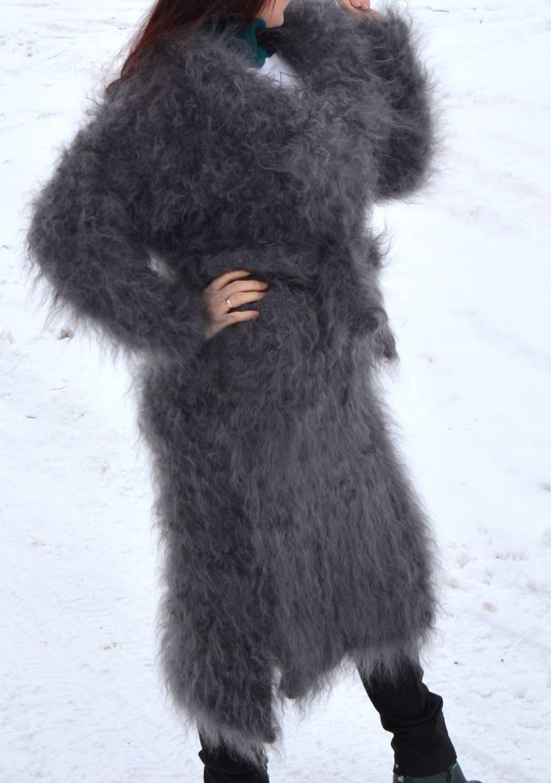 3c021a193c689 Coat long Goat Down Organic Mohair Angora FETISH cashmere