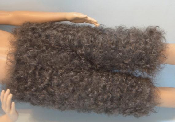 Scarve Scarf Handknitted goat down longhair yarn Cashmere Angora  fuzzy warm