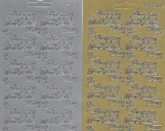 A GIFT FOR YOU Peel Off Stickers Card Making Sentiments Presents Gold or Silver