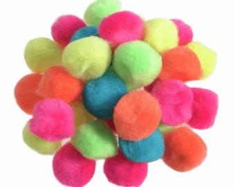 10 Yards Multi Coloured pom pom Trim 17mm pom poms Royal Blue//Neon Yellow//Neon Green//Teal Blue//Neon Hot Pink//Orange pom poms.