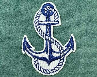 anchor Embroidered PATCH//BADGE Origami boat