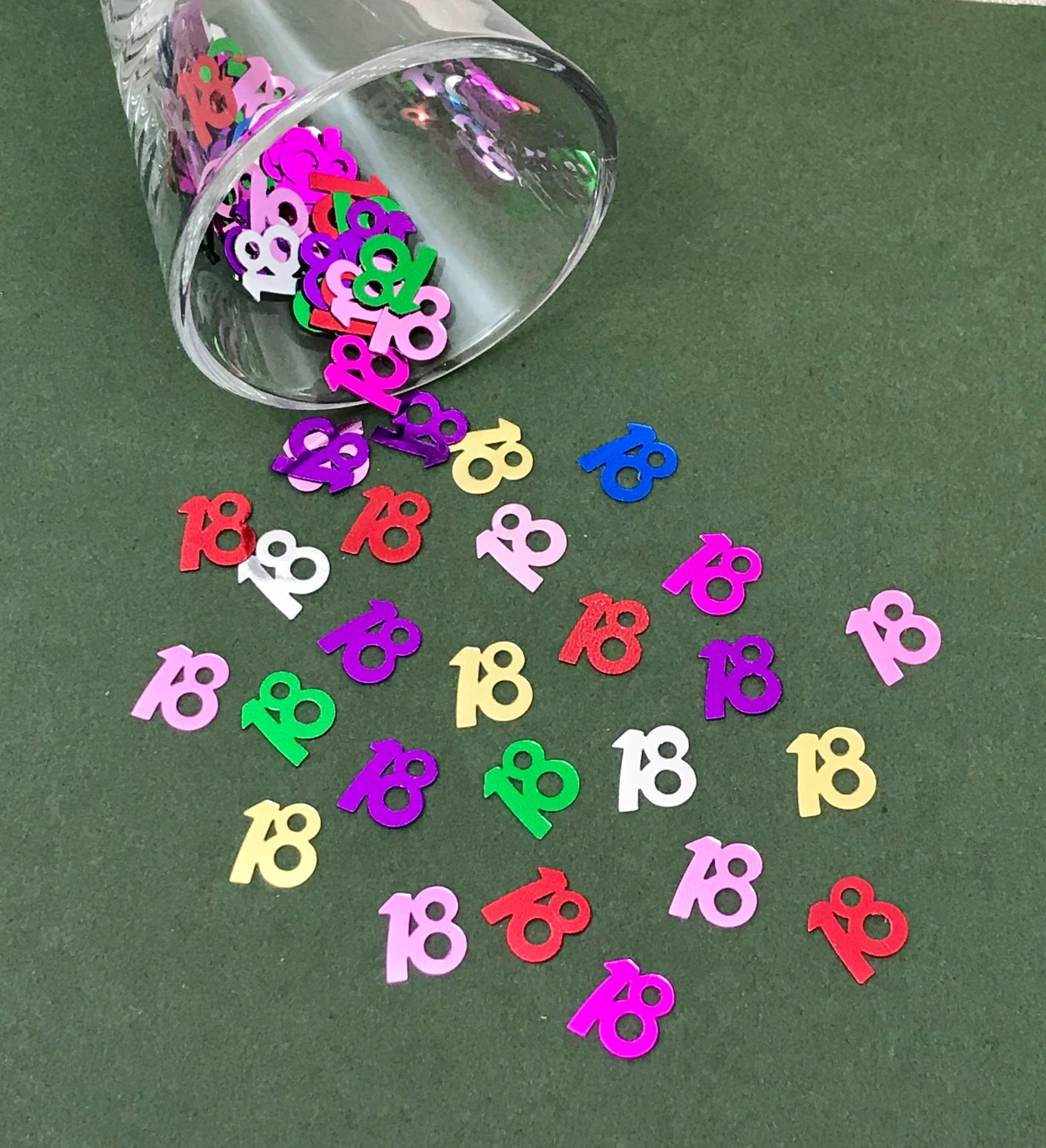18th Birthday Table Confetti