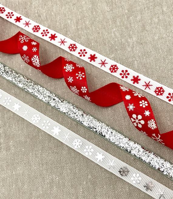 Scandinavian Snowflake Stitch Christmas Berisfords Ribbon 3m x 25mm