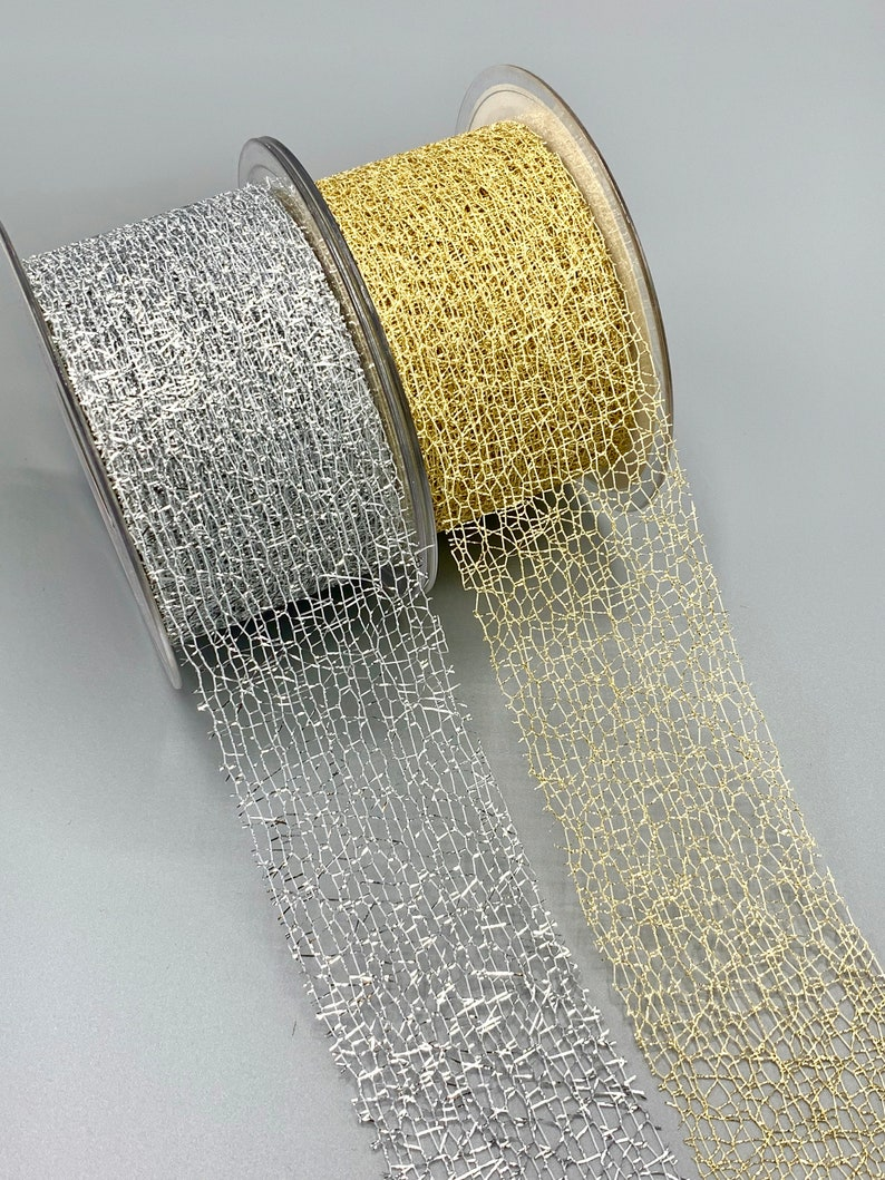 10yds LUXURY HOLLY CHRISTMAS WINE//GOLD GLITTER RIBBON TREES WREATHS BOWS GIFTS