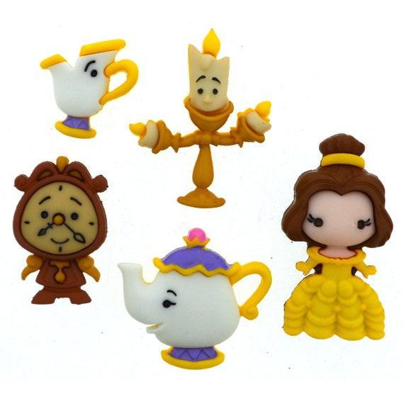 Fairytale Embellishment Disney Beauty and the Beast Buttons Disney Princess