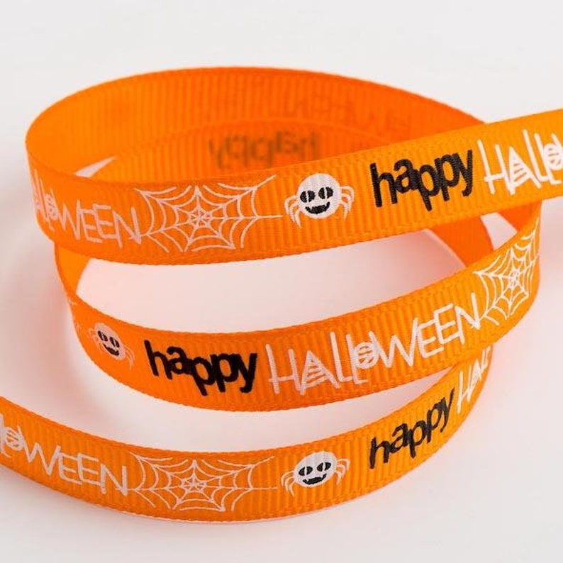 """Trick or Treat Halloween Ribbon 1m long 1/"""" wide Mickey /& Minnie Mouse"""