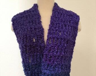 Purple Infinity Scarf, Purple Lover's Scarf, Crochet Purple Scarf, Purple Chunky Scarf, Purple Fuzzy Scarf, Purple Winter Scarf