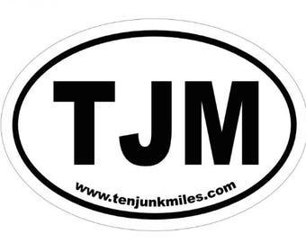 TJM Oval Sticker