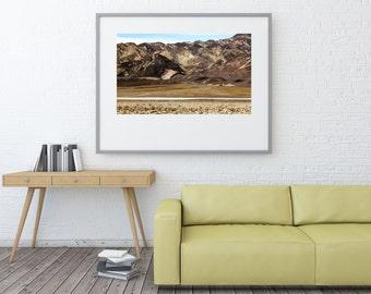 Death Valley Mountains Fine Art Photography | polychromatophil | Photo | Black Grey Brown Yellow White | Stone Rock Salt Desert Meager