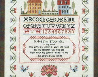 Ye olde cross stitchery colonial sampler kit.