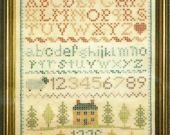 Colonial sampler stitchworld pattern leaflet | cross stitch.