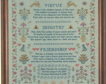 Words To Live By by With My Needle Counted Cross Stitch Pattern/Chart