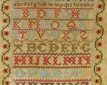 Selina Chown Reproduction Sampler by Lila's Studio Counted Cross Stitch Pattern/Chart