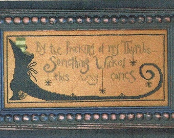 Something Wicked by La-D-Da Counted Cross Stitch Pattern/Chart