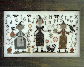 Three Witches by Barbara Ana Designs Counted Cross Stitch Pattern/Chart