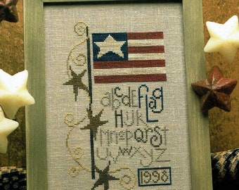 Flag 1998 by Bent Creek Counted Cross Stitch Pattern/Chart