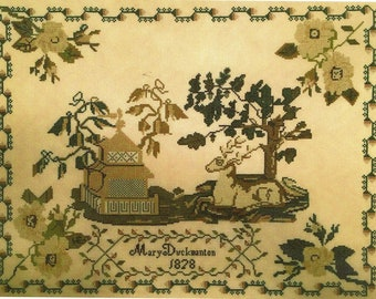 Mary Duckmanton 1828 Reproduction Sampler by Needlemade Designs Counted Cross Stitch Pattern/Chart
