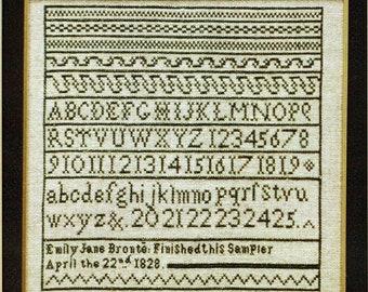 Emily Bronte Sampler par Moira Blackburn compté motif/Diagramme point de croix