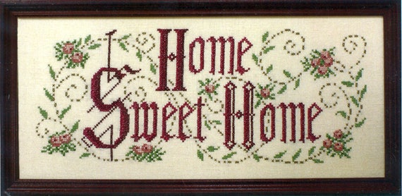 Home Sweet Home Stamped Sampler Kit de Country Stitches | Etsy