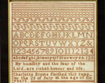 Charlotte Bronte Sampler par Moira Blackburn compté motif/Diagramme point de croix