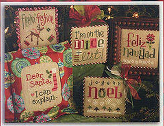 Lizzie Kate Tiny Tidings XXII Christmas 5 Charts Buttons
