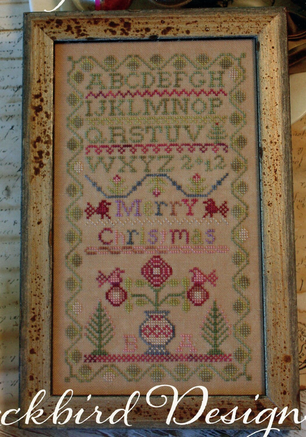Merry Christmas By Blackbird Designs Counted Cross Stitch