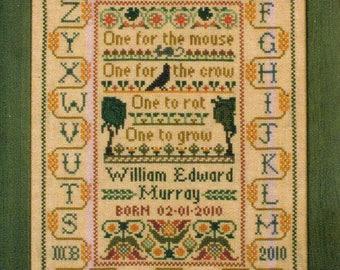 Comment semer les haricots par Moira Blackburn compté motif/Diagramme point de croix