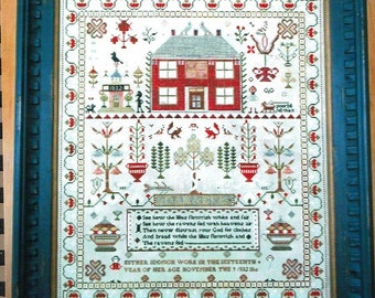 Esther Iddison 1832 Reproduction Sampler by Chessie & Me Counted Cross Stitch Pattern/Chart