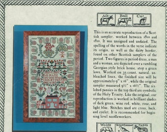 Red House Scottish Sampler by Scarlet Letter Counted Cross Stitch KIT