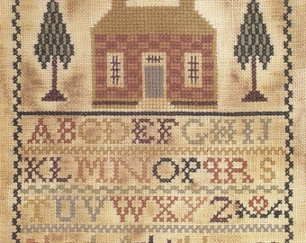 Bless Our Home by Homespun Samplar Counted Cross Stitch Pattern/Chart