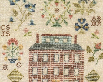 Brick House Samplar by Little by Little Counted Cross Stitch Pattern/Chart
