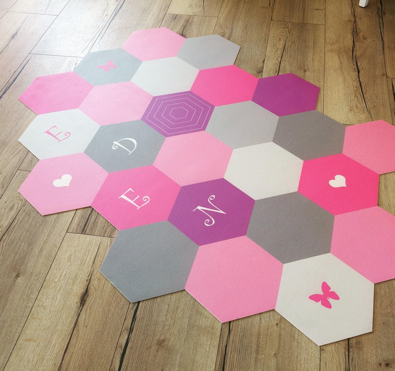 Geometrische PVC-Matte Vinyl-Fußmatte Teppich Teppich