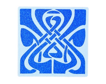 Fleur-De-Lis Design Tile Stencil 190 Micron Mylar Washable Reusable 15 x 15cm