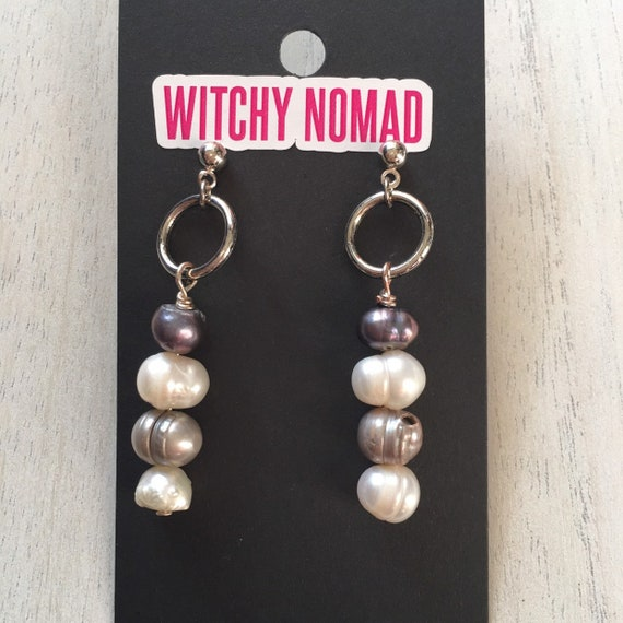 Freshwater Potato Pearl Earrings