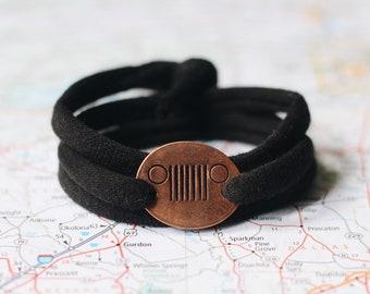 Jeep Cloth Wrap Bracelet Jewelry Accessories Lover Gift Wrangler Club Girl 4X4