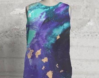 Big Wave sleeveless blouse size xl