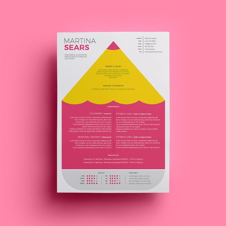 Designer Cv Template Resume Design Clean Creative Fun
