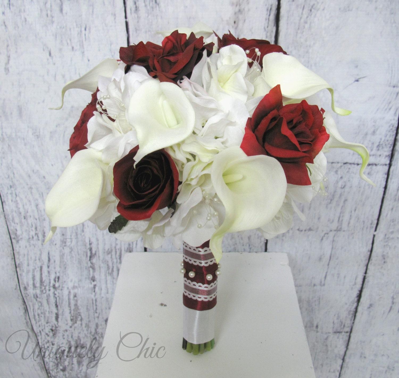 Burgundy Wedding Flower Bouquet: Bridal Bouquet Burgundy Rose Wedding Bouquet Wine Rose