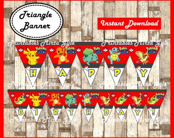 Pokemon Banner Printable Party Triangle
