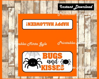 graphic relating to Bugs and Kisses Printable referred to as Insects and kisses Etsy
